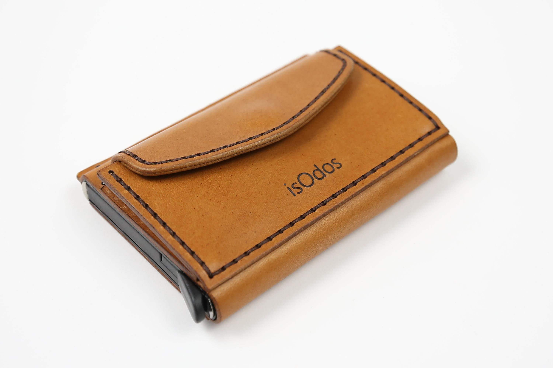Minimalistinė odinė piniginė Smart - šviesiai ruda