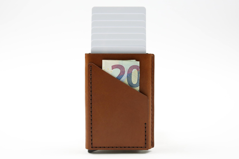 Minimalistinė odinė piniginė Smart - ruda