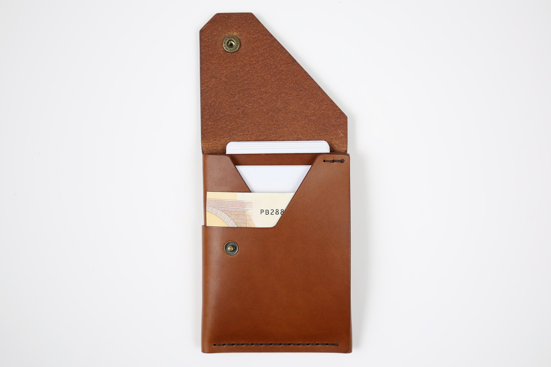 """Minimalistinė odinė piniginė """"Elegant"""" [Ruda]"""