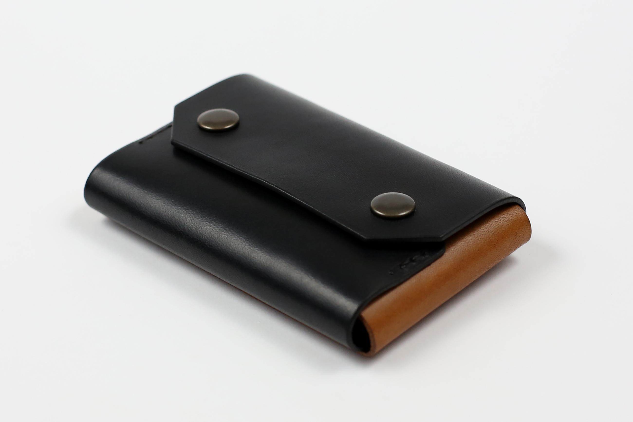 """Minimalistinė odinė piniginė """"Mini"""" [Šviesiai ruda]"""