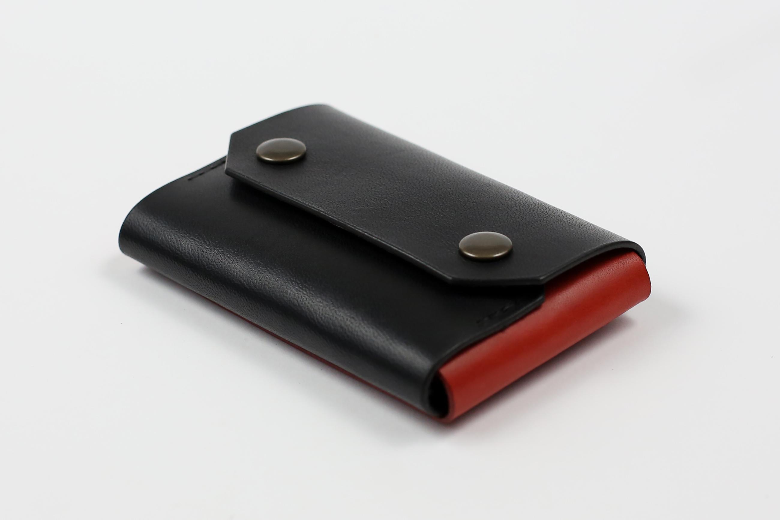 """Minimalistinė odinė piniginė """"Mini"""" [Raudona]"""
