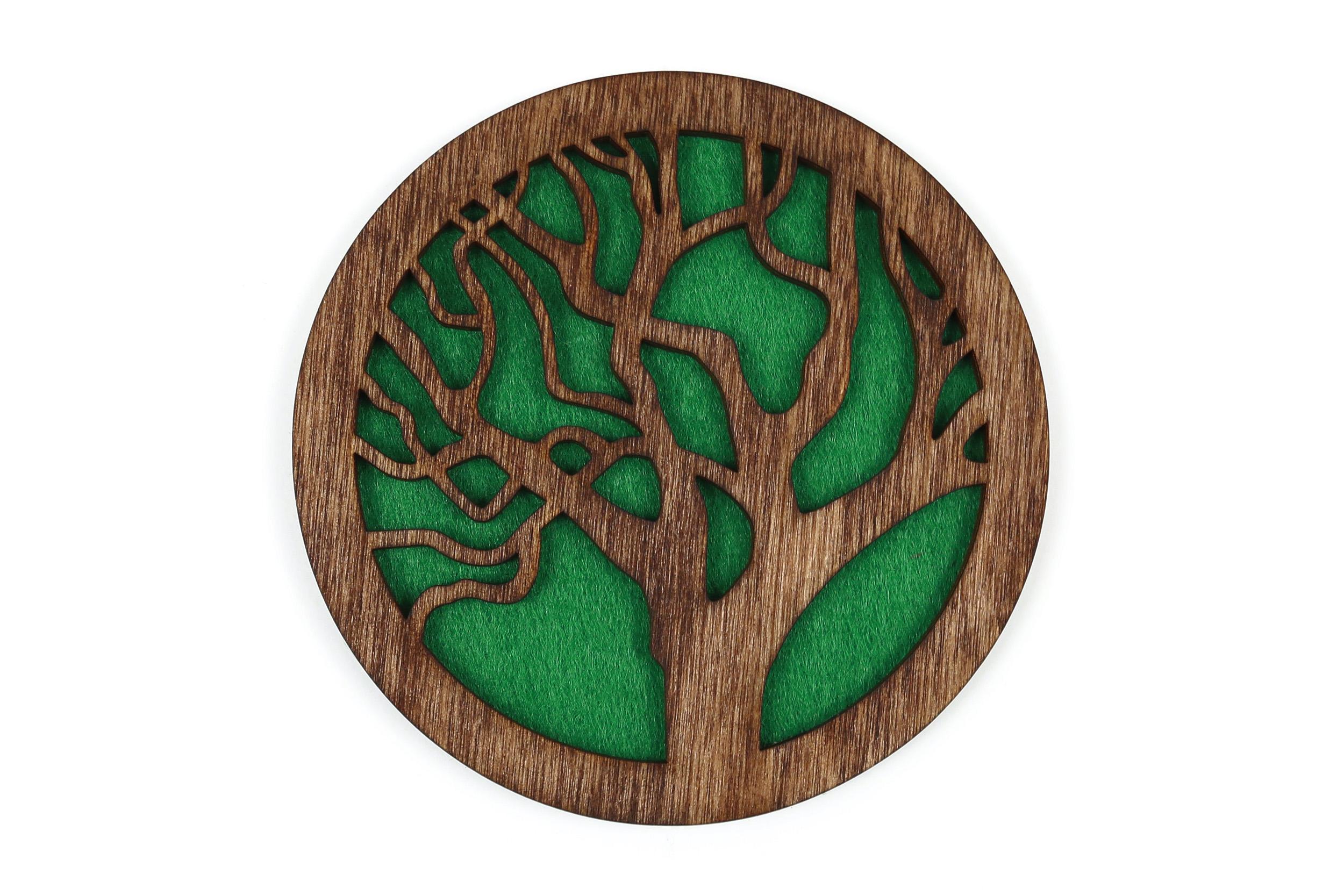 """Padėkliukas puodeliui """"Gyvybės medis"""" [Galimos 6 veltinio spalvos]"""